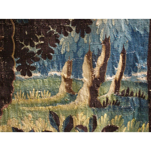 18th Century Flemish Verdure Tapestry Wall Hanging For Sale - Image 12 of 13