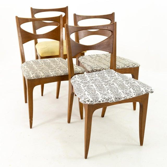 John Van Koert for Drexel Profile Mid Century Walnut Dining Chairs - Set of 4 For Sale - Image 13 of 13