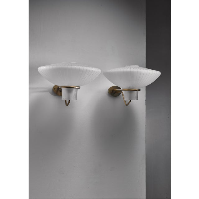 ASEA Pair of Asea wall lamps, Sweden, 1950s For Sale - Image 4 of 5