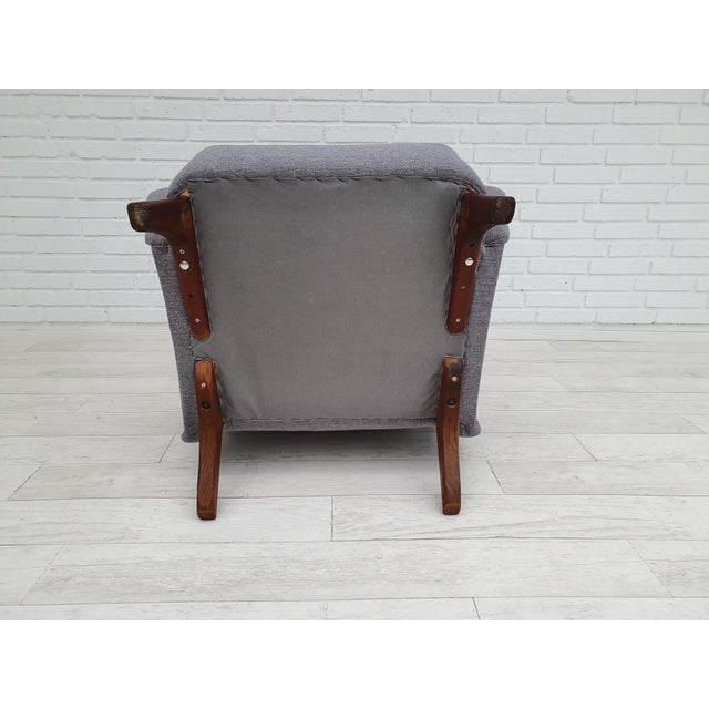 1970s Vintage Danish Lounge Chair For Sale - Image 10 of 13