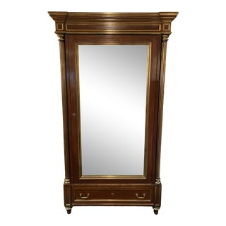 Early 20th Century Mirrored Neo-Classical Armoire For Sale