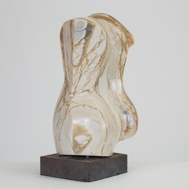 1960s Abstract Torso Sculpture on Stone Mount For Sale - Image 5 of 12