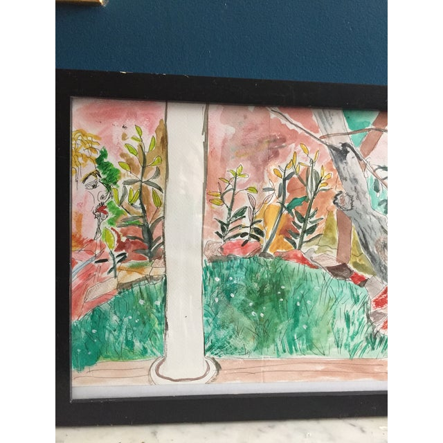 Contemporary Pen & Watercolor Painting - Image 5 of 6