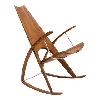 Studio Craft Rocking Chair by Leon Meyer - 1980s For Sale