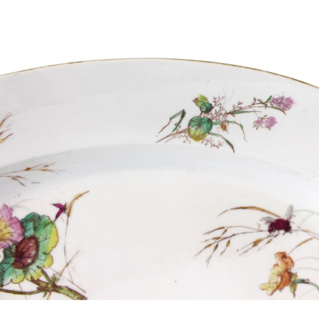 Limoges Delinieres & Co Porcelain With Floral Design Serving Platter from Late 1800s For Sale In Jacksonville, FL - Image 6 of 12
