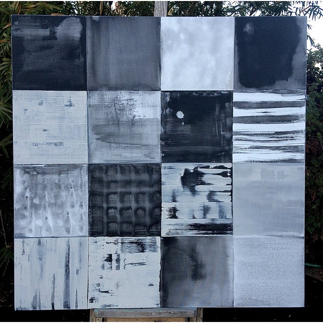 Black and White Original Contemporary Painting - Image 2 of 4