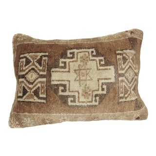 Traditional Muted Tone Rug Pillow Cover - 24 X 18 Inches For Sale