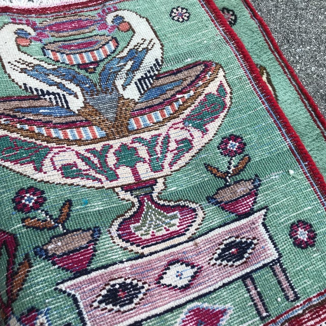 """1980s Persian Pictorial Yalameh Rug - 1'6"""" X 2'7"""" For Sale - Image 10 of 13"""