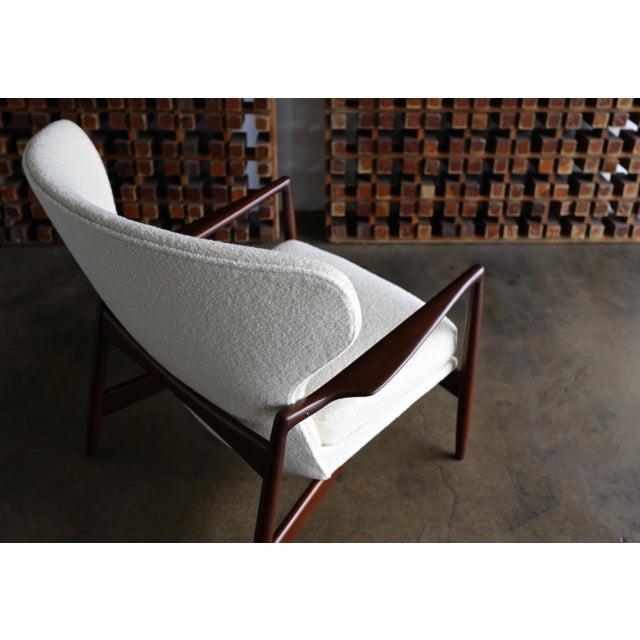 Wood Ib Kofod-Larsen Wingback Lounge for Selig, Circa 1965 For Sale - Image 7 of 13