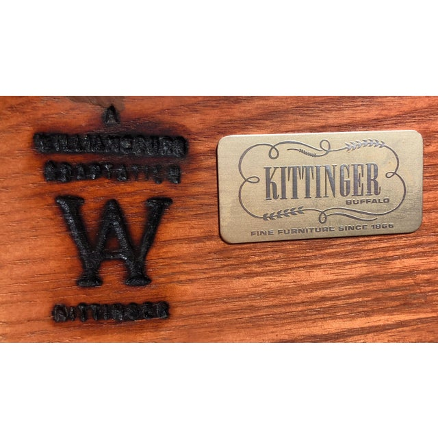 Kittinger Solid Mahogany Four Drawer Chippendale Bachelor Chest For Sale - Image 10 of 12