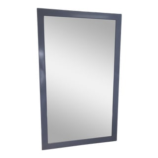 Modern Periwinkle Lacquer Mirror