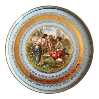Dinner Plate by Royal Vienna Porcelain, 1880s For Sale