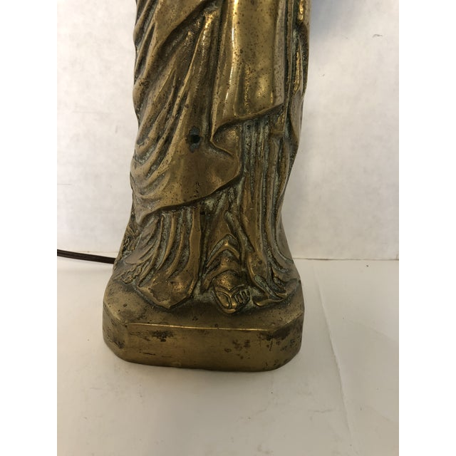 Vintage Brass Statue of Liberty Lamp For Sale - Image 4 of 6