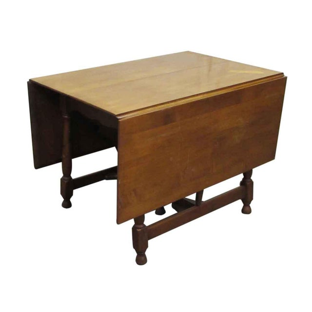 English Traditional Antique Cherry Gate Leg Table For Sale - Image 3 of 7