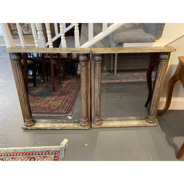 1930s 1930s Smoked Glass Mirrors- a Pair For Sale - Image 5 of 5