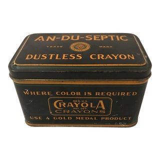 Early 1900's Crayola Crayon Storage Box For Sale