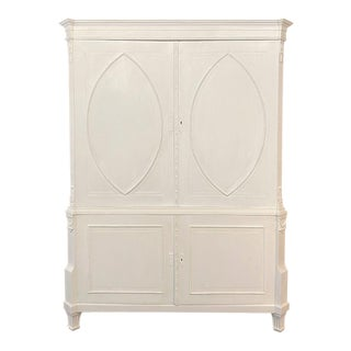 19th Century Dutch Painted Linen Cabinet For Sale