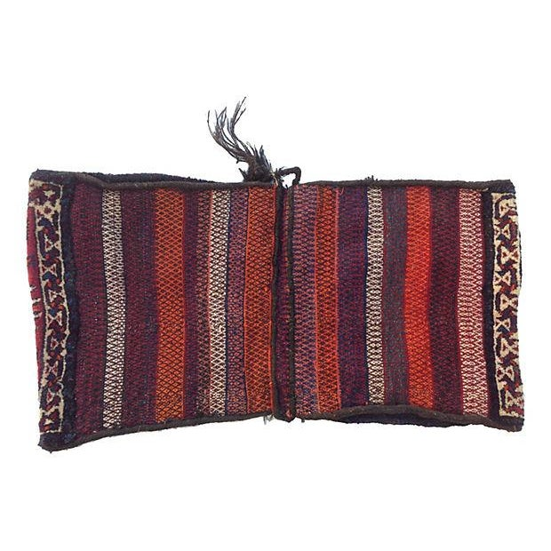 Boho Chic Turkish Wool Camel Sack For Sale - Image 3 of 4