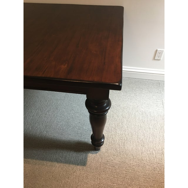 Mahogany Rectangular Dining Table With 2 Leaves - Image 4 of 4