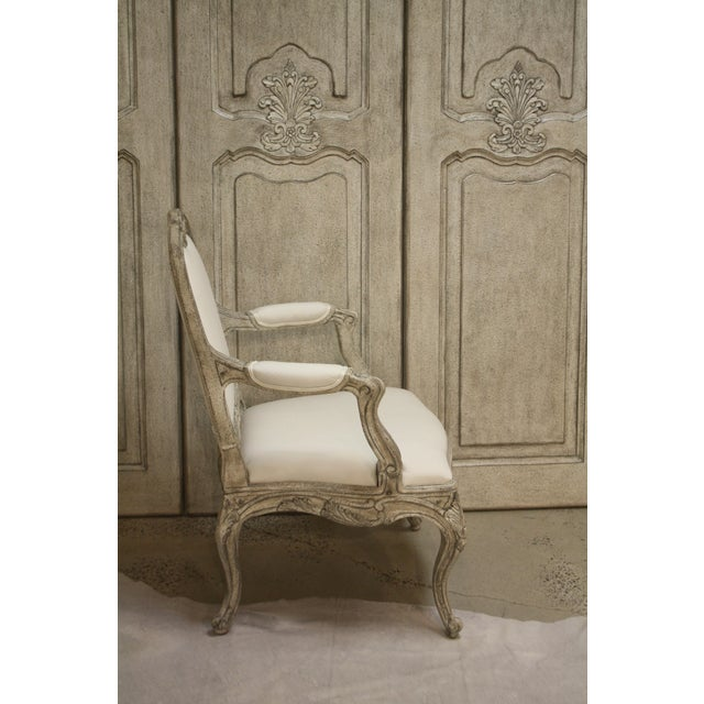 """Rococo Curvy Occasional Arm Chair, SC0021 Extensive hand carving. Hand crafted. 26.5"""" Wide, 25-7/8"""" Deep, 36"""" H Inside..."""