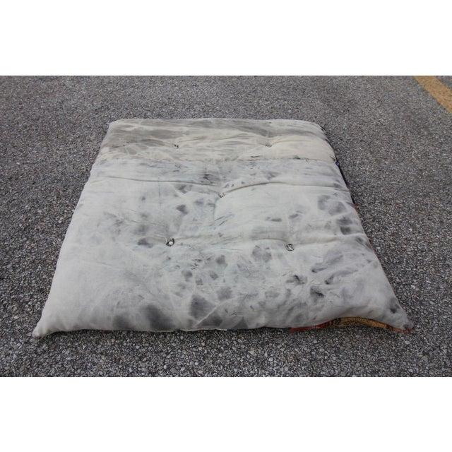 Vintage Turkish Patchwork Floor Pillow - Image 5 of 5