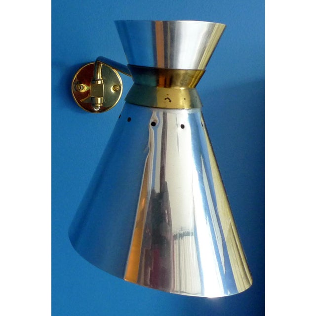Pierre Guariche Style Adjustable Wall Sconces - A Pair - Image 8 of 9