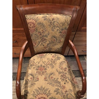 Bombay Co. Accent Wood and Fabric Arm Chair Preview