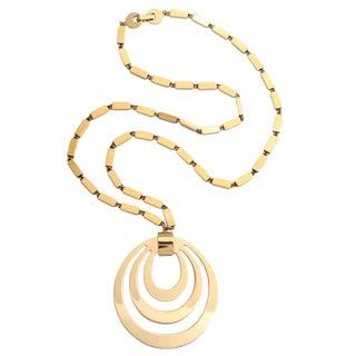 Monet Goldtone Pendant Necklace For Sale