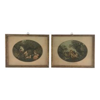 Antique Portrait Gravures Framed by E. Vandevoorde - a Pair For Sale