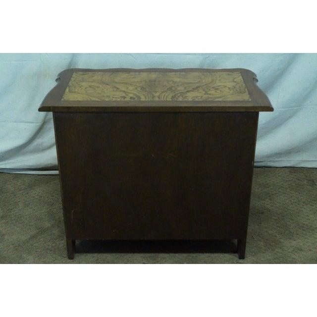 Baker Furniture Burl Wood & Walnut Bombe Chest - Image 4 of 10