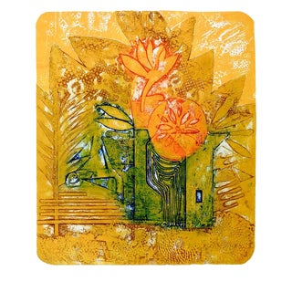 "Anita Klebanoff ""Into the Sun"" Abstract Etching For Sale"