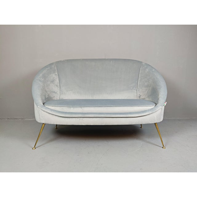 Italian Mid-Century Upholstered Sofa For Sale - Image 10 of 10