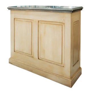 Cast Pewter Bar Top With Painted Lower Front For Sale