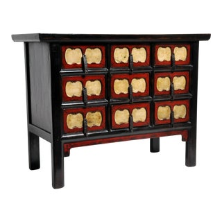 Chinese Side Chest With Nine Drawers For Sale