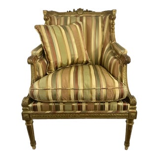 Louis XVI Style Gilded Bergere For Sale