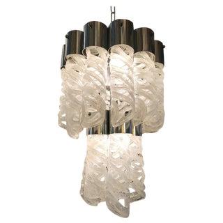 Spiral Murano Glass Pendant by Venini For Sale