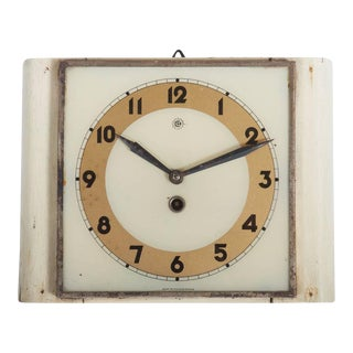 Czech Art Deco Wall Clock from Chomutov, 1930s For Sale