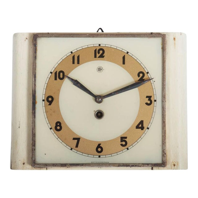 Czech Art Deco Wall Clock from Chomutov, 1930s - Image 1 of 6