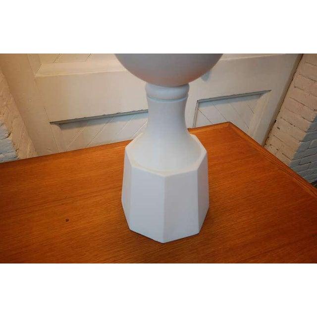 Metal Monumental Balustrade-Form Plaster Table Lamp For Sale - Image 7 of 11