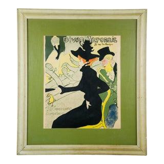 """1893 French Lithograph Print, """"Divan Japonais, 75 Rue Des Martyrs"""" by Henri De Toulouse-Lautrec For Sale"""