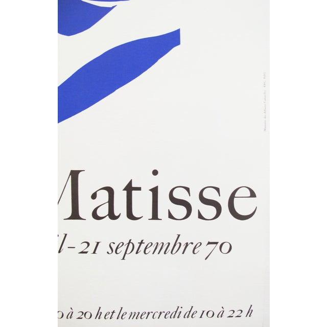 Henri Matisse 1970 Henri Matisse Vintage Poster, Grand Palais Cut Out For Sale - Image 4 of 4