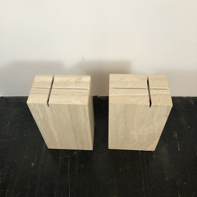 White 1970s Artedi Italian Marble Side Tables - a Pair For Sale - Image 8 of 13
