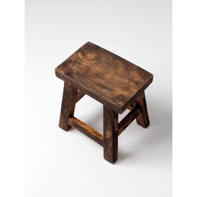 Mid 20th Century Vintage Chinese Wood Stool For Sale - Image 5 of 8