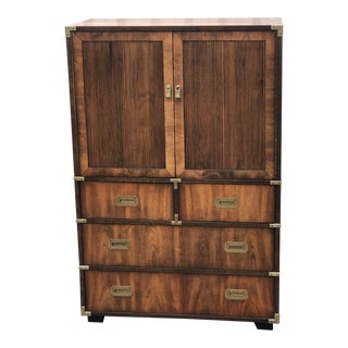 Vintage Campaign Style Wardrobe For Sale