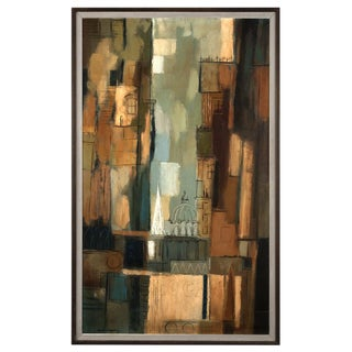 """Darwin Musselman """"Abstract City"""" Oil Painting"""