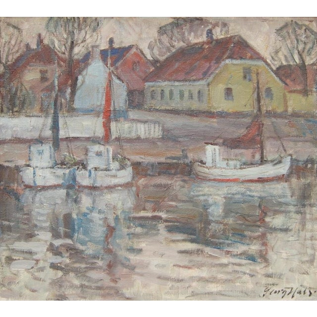 """Nørrekaas - Rønne"" Painting by Georg Hals - Image 3 of 5"