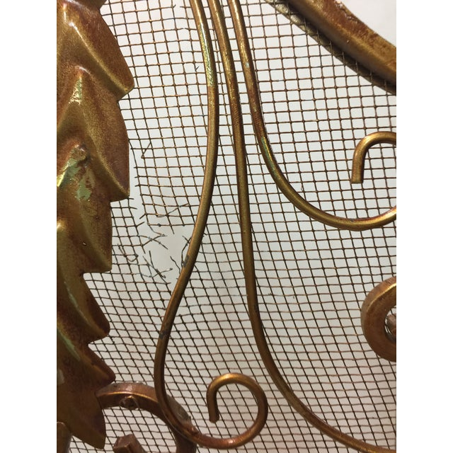 Iron Ornate Fireplace Screen For Sale - Image 7 of 12