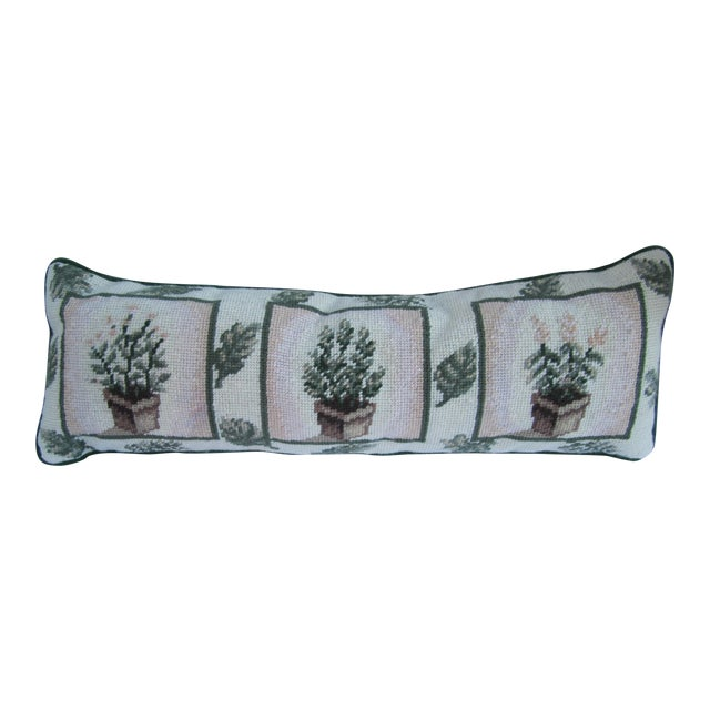 Needlepoint Pillow with Trees For Sale