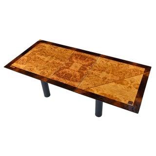 Oscar DellArredamento Italian Modern Burl Maple Dining Table by Miniforms For Sale