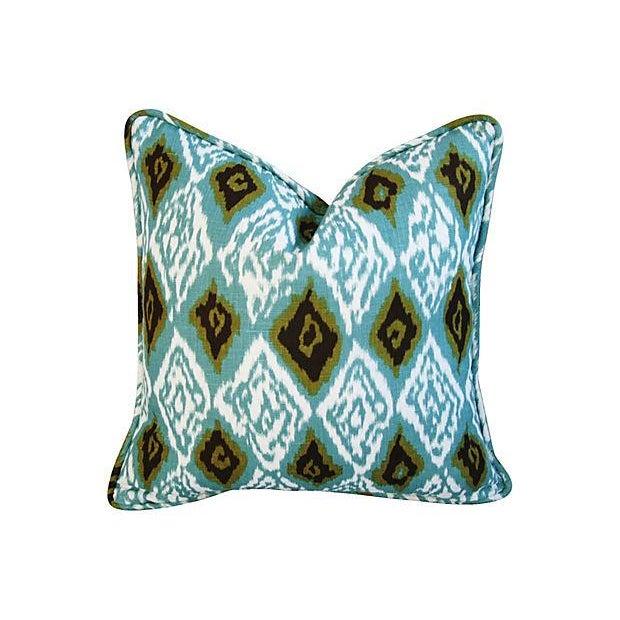 Custom Eaton Square Firebird Linen Pillows - a Pair - Image 5 of 7
